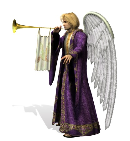 11122758 - angel gabriel - side view - 3d render